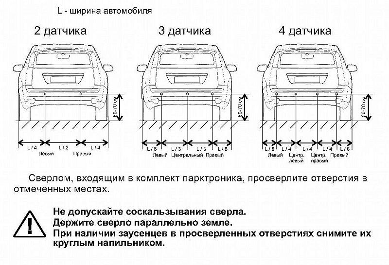 установка датчика парковки