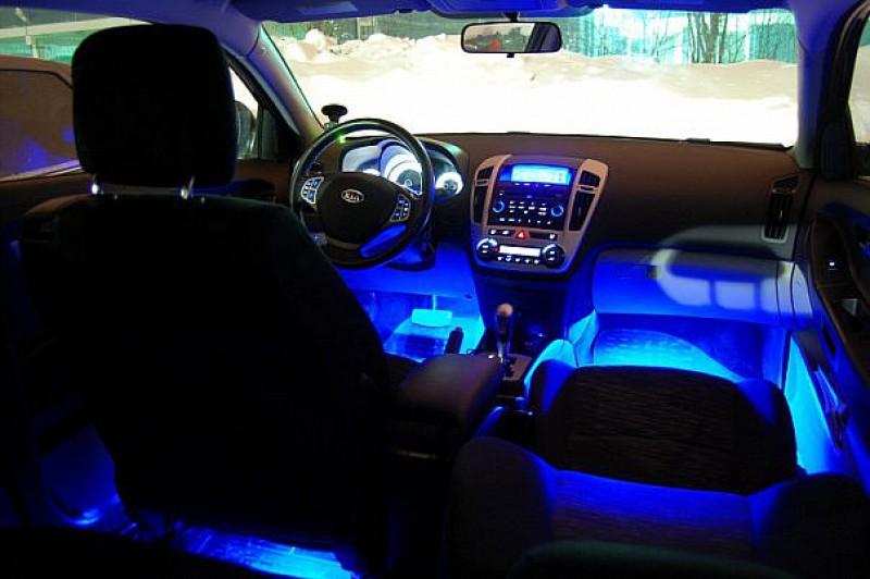 Подсветка ног автомобиля своими руками