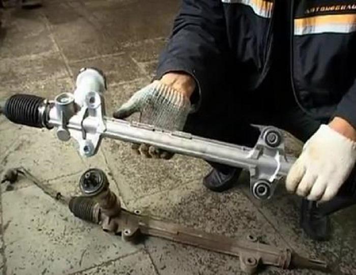 Замена рулевой рейки киа соренто своими руками