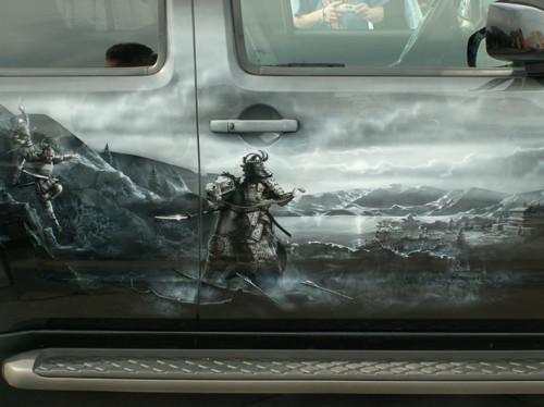 Аэрография своими руками рисуем парусник на авто