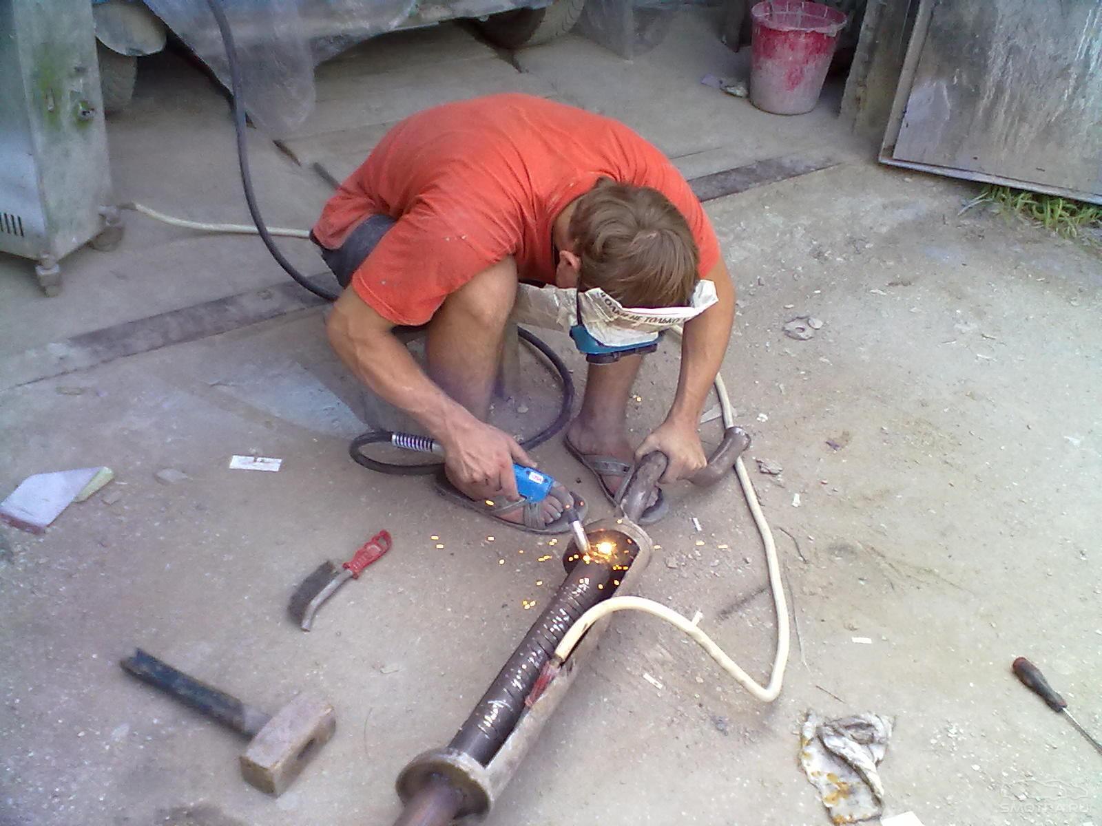 Ремонт глушителя ваз 2107 своими руками без сварки