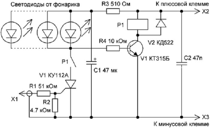 Автомобильный стробоскоп на светодиодах