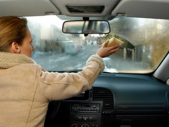 Запотевшие автостекола в осенне-зимний период
